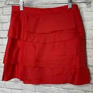 BCBG MaxAzria Little Red Skirt Layers Size 0